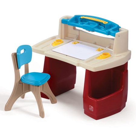 Step2 Deluxe Art Master Desk Kids Art Table with Storage and Chair