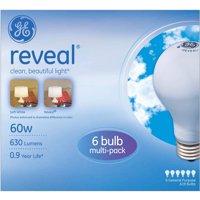 GE Reveal Incandescent Light Bulbs, 60W