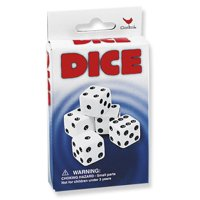 """5 pack white dice 5/8"""" 16mm"""