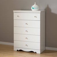 Crystal 5-Drawer Chest, Multiple Finishes