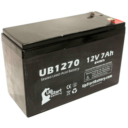 APC BACK-UPS ES 8 OUTLET 650VA BE650R Battery Replacement -  UB1270 Universal Sealed Lead Acid Battery (12V, 7Ah, 7000mAh, F1 Terminal, AGM, SLA) - Includes TWO F1 to F2 Terminal Adapters