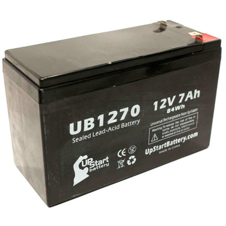 Compatible Dyonics SURGICAL PWR UNITS Battery - Replacement UB1270 Universal Sealed Lead Acid Battery (12V, 7Ah, 7000mAh, F1 Terminal, AGM, SLA) - Includes TWO F1 to F2 Terminal Adapters