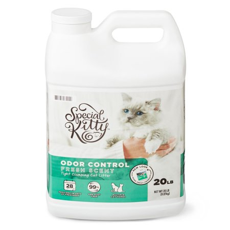 Special Kitty Scoopable Tight Clumping Cat Litter, Fresh Scent, 20