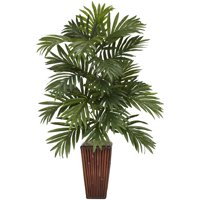 Nearly Natural Artificial 32-in. Tall Areca Palm with Bamboo Vase Silk Plant