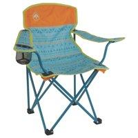 Coleman Kids Camping Glow-in-the-Dark Quad Chair, Tribal Teal/Orange |2000025292