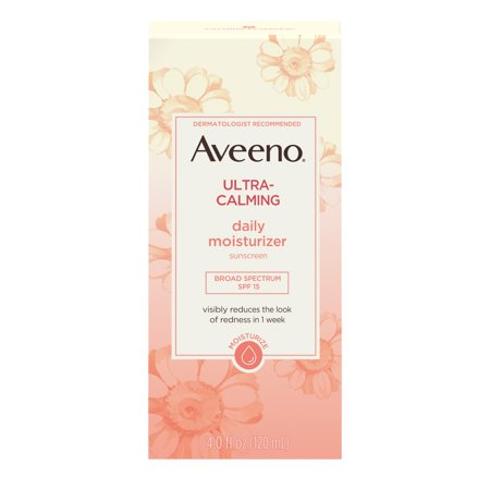 Aveeno Ultra-Calming Daily Facial Moisturizer with SPF 15, 4 fl. (Spf 15 Apricot)