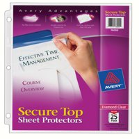 Avery Diamond Clear Sheet Protectors, Acid-Free, 25 Protectors (76000)