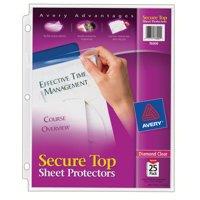 Avery Diamond Clear Secure Top Sheet Protectors, Acid-Free, 25 Protectors (76000)