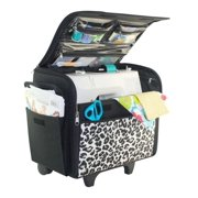 3c4a51c039 Everything Mary Cheetah Rolling Sewing Machine Case