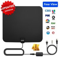 Auchen Digital TV Antenna Indoor 110 Miles Range | 4K HD VHF UHF Freeview for Life Local Channels Broadcast for All Types of Home Smart Television | Never Pay Cable Fee (UPGRADED 2019 VERSION)