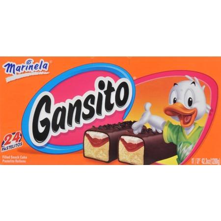 Marinela Gansito Filled Snack Cakes, 1.76 oz, 24 count