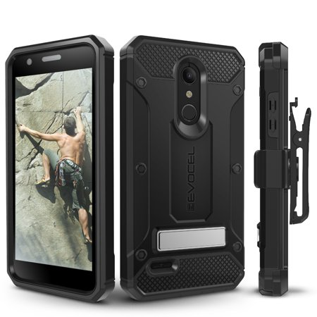 Lg Vx8350 Belt Clip (LG K30 Case, Evocel [Glass Screen Protector] [Belt Clip Holster] [Metal Kickstand] [Porthole Covers] [Full Body] Explorer Series Pro Phone Case for LG K30 / LG K10 (2018) / LG)