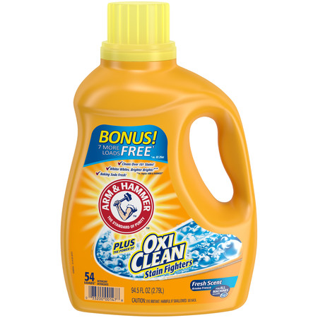 Arm & Hammer Plus OxiClean Fresh Scent Liquid Laundry Detergent, 94.5 fl -