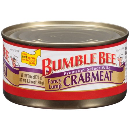Bumble Bee Fancy Lump Crabmeat, 6oz can