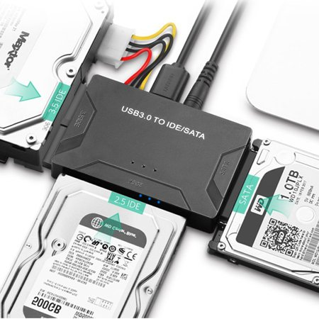 Ide Internal Hard Drive (TSV USB IDE Adapter USB 3.0 to SATA IDE Hard Drive Converter Combo for 2.5