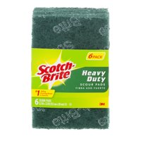 (2 Pack) Scotch-Brite Heavy Duty Scrub and Scour Pad, 6 Pads per Pack