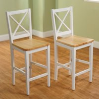 "TMS Virginia Cross-Back 30"" Bar Stool, Set of 2, Multiple Colors"