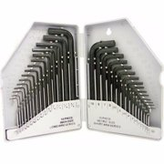 30 Pc Combo Hex Key Allen Wrench Set SAE Metric Long and Short Arm with Storage