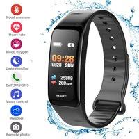 Fitness Tracker Heart Rate Monitor Watch Blood Pressure Activity Tracker Waterproof Smart Wristband for Kids Women Men,Blue
