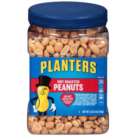 Planters Dry Roasted Peanuts, 34.5 oz Jar (Best Honey Roasted Peanuts)