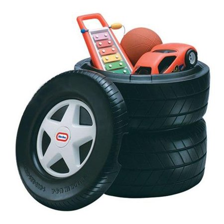 Little Tikes Classic Racing Tire Toy Chest (Treasure Chest Gift Box)