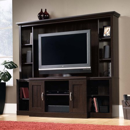 Sauder Entertainment Center For Tvs Up To 46 Cinnamon Cherry