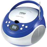 Naxa NPB251BK Portable CD Player with AM/FM Radio (Black)