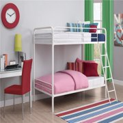 Harper&Bright Designs Twin Over Twin Metal Bunk Bed, White