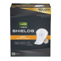 Depend for Men Shields Light Absorbency - 58 Count