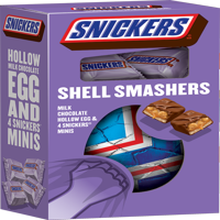SNICKERS Shell Smashers Easter Chocolate Candy, 4.62-Ounce Box