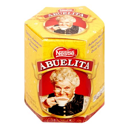 (4 Pack) Nestle ABUELITA Authentic Mexican Hot Chocolate Drink Tablets 19 oz. Box - Hot Chocolate Spoons