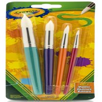 Crayola Round Soft Bristle Paint Brush Set in Various Sizes, 4 Count