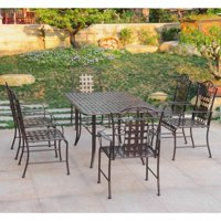 International Caravan Mandalay Iron 7 Piece Patio Dining Set