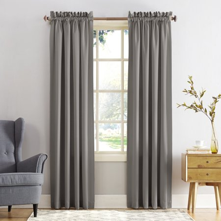 Pink Tab Top Curtains - Sun Zero Kylee Energy Efficient Rod Pocket Curtain Panel