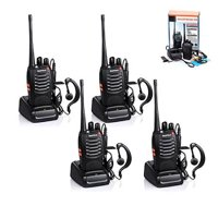 BAOFENG 4pcs BF-888S Walkie Talkie with Built in LED Torch (Pack of 4