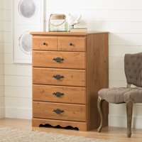 South Shore Prairie 5-Drawer Dresser, Country Pine