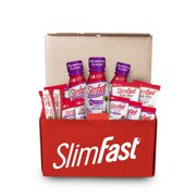 SlimFast 7- Day High Protein Meal Replacement Starter Kit Including Shakes, Powders, Cookies & Bars