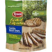 Tyson® Grilled & Ready® Fully Cooked Grilled Chicken Breast Strips, 22 oz. (Frozen)