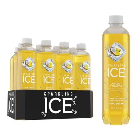 Cherry Ice - Sparkling Ice, Coconut Pineapple, 17 Fl Oz, 12 Count