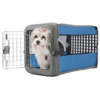 """Sportpet Small Pop Crate Pet Crate, Travel dog crate , small dog crate, 22.5""""W x 14.25""""D x 14.63""""H, Assorted ( For Kennel Trained Pet Only)"""