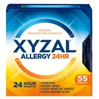 Xyzal 24hr Allergy Relief Antihistamine Tablets, 55ct