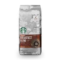 Starbucks Breakfast Blend Medium Roast Ground Coffee, 20-Ounce Bag