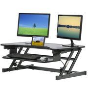"""Standing Desk Height Adjustable Stand Up Sit To Stand Desk Portable 32"""" For Desktop Laptop 2 Monitors With Keyboard Tray"""