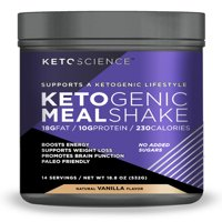 Keto Science Ketogenic Meal Shake Vanilla Dietary Supplement, 18.8 oz., 14 Servings