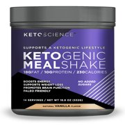 Keto Science Ketogenic Meal Shake Vanilla Dietary Supplement, 18.8 oz., 14 Servings