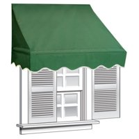 ALEKO 6' x 2' Window Awning Door Canopy (12 sq. ft Coverage), Green Color