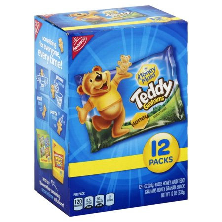 Nabisco Honey Maid Honey Teddy Graham Snacks, 1 Oz., 12 (Best Snacks Whole Foods)