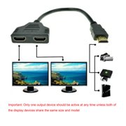1080P HDMI Port Male to 2 Female 1 In 2 Out Splitter Cable Adapter Converter