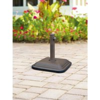 Mainstays Lawson Ridge Umbrella Base, Brown Powder Coated Steel