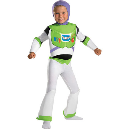 Toy Story Buzz Lightyear Deluxe Child Halloween Costume - At Home Halloween Costume Ideas